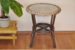 Ratanový stolek Fabion wicker mix