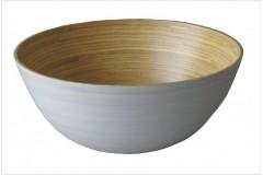 Bambusová miska bílá malá