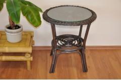 Ratanový stolek Fabion hnědý