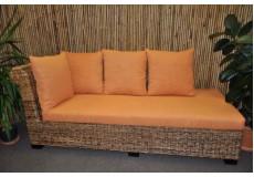 Odpočinková pohovka Lazy pravá banánový list polstr oranžový - doprava ZDARMA