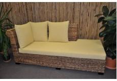 Odpočinková pohovka Lazy pravá banánový list polstr žlutý - doprava ZDARMA