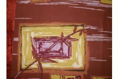 Látka hnědý list, metráž