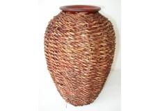 Váza pálená dekor mořské řasy široká