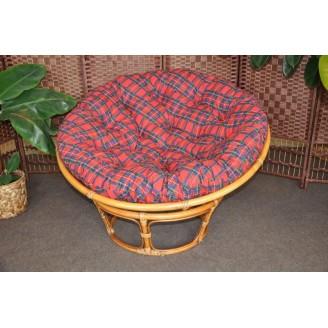 Ratanový papasan brown wash 110 cm polstr červený