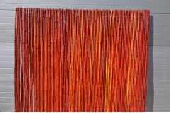 Bambusový plot 2x1,8 m, 18-20 mm barvený vínový