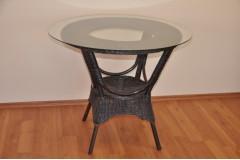 Ratanový stůl jídelní  Wanuta hnědý - doprava ZDARMA