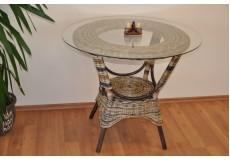 Ratanový stůl jídelní  Wanuta wicker mix - doprava ZDARMA
