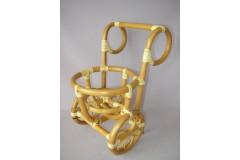 Ratanový stojánek na květinu vozík
