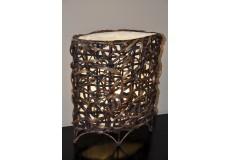 Lampa bambusová malá oválná