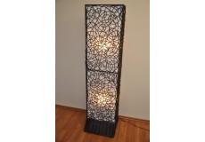 Lampa ratanová vysoká včetně LED žárovek - doprava ZDARMA
