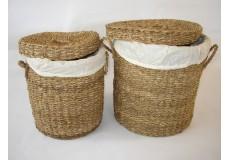 Koš prádelní mořská tráva  set 2 kusy