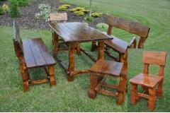 Zahradní nábytek masiv barva Mahagon - doprava ZDARMA