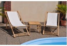 Souprava bambusový lehátek Relax a stolku