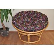 Ratanový papasan 110 cm medový polstr barevné bubliny
