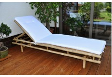 Bambusové lehátko Polo s polstrem - doprava ZDARMA