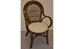 Ratanová židle Bali hnědá