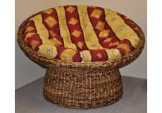 Papasan banánový list - polstr vínový motiv - doprava ZDARMA