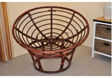 Ratanový papasan 110 cm mmahagon - konstrukce bez polstru