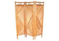 Bambusový paravan Axin 3 natural  - vzhledové vady