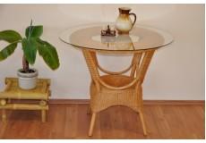 Ratanový stůl jídelní  Wanuta med - doprava ZDARMA