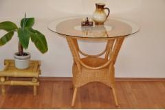 Ratanový stůl jídelní  Wanuta med