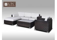 Luxusní sedací souprava z umělého ratanu Conchetta XIII 2,48x1,9m