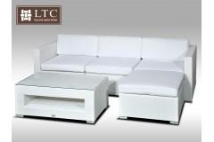 Luxusní rohová sedací souprava ALLEGRA VII bílá 3-4 osoby