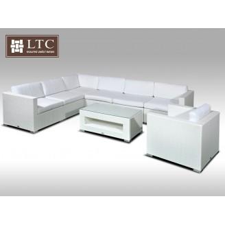 Luxusní rohová sedací souprava ALLEGRA XV bílá 6 osob