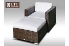Umělý ratan - luxusní sedací souprava ALLEGRA I hnědá 1-2 osoby
