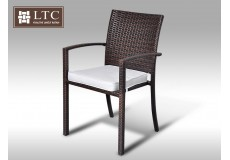 Židle z umělého ratanu Armino hnědá