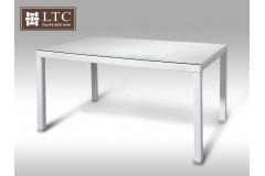 Umělý ratan - stůl Orlando 150x90 bílý