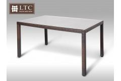 Umělý ratan - stůl Orlando 150x90 hnědý