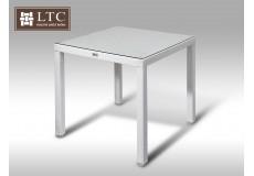 Umělý ratan - stůl Orlando 80x80 bílý