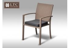 Židle z umělého ratanu Armino šedobéžová