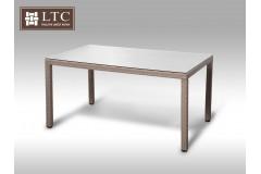 Umělý ratan - stůl Orlando 150x90 šedobéžový
