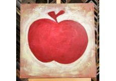 Obraz červené jablko 60x60 cm