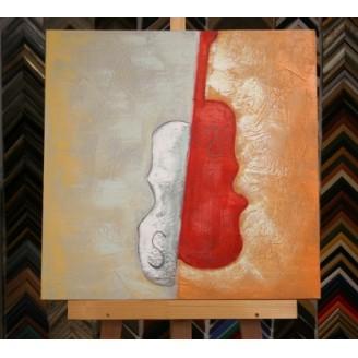 Obraz dvoubarevné housle 60x60 cm