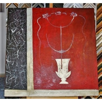Obraz bílá váza 75x75 cm