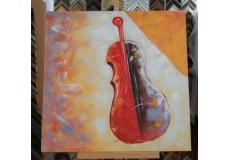 Obraz dvoubarevné housle II 90x90 cm
