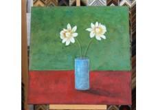Obraz bílé květy 90x90 cm