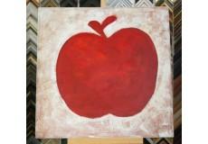 Obraz červené jablko 90x90 cm